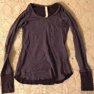Lululemon striped long sleeved shirt